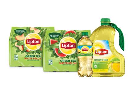 Lipton Green Tea bottles