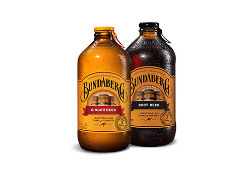 Bundaberg Craft Soda bottles