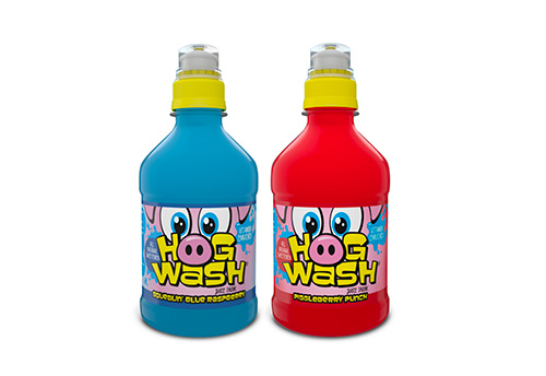 Two Hogwash drink product bottles