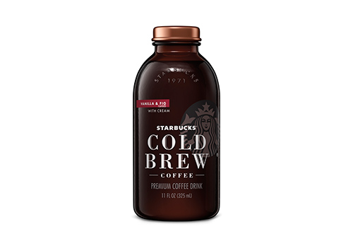 A single Starbucks Cold Brew product bottle