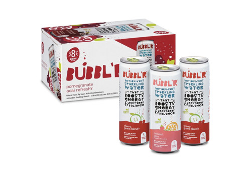 Bubblr 8-pack package and three cans