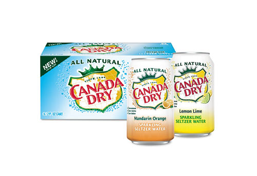 Canada Dry Sparking Water 12-pack and two single cans