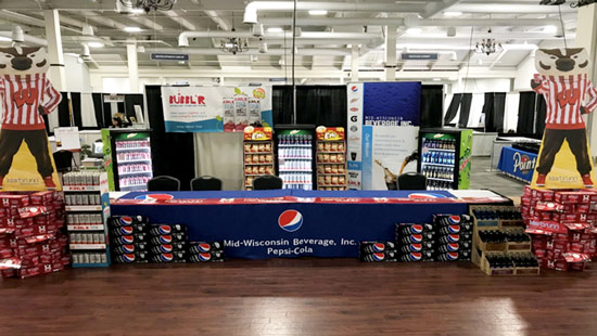 "At the 2019 Wausau Business Expo, the Mid-Wisconsin Beverage Team won ""The Best of Show Eats & Treats Award""."