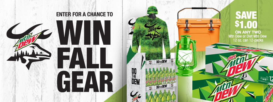 Mountain Dew. Enter for a chance to win fall gear.