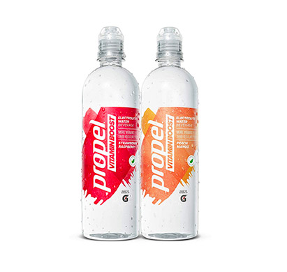 two Propel Vitamin Boost bottles