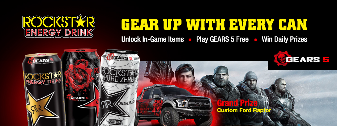 Rockstar Energy Drink. Gear up with every can.