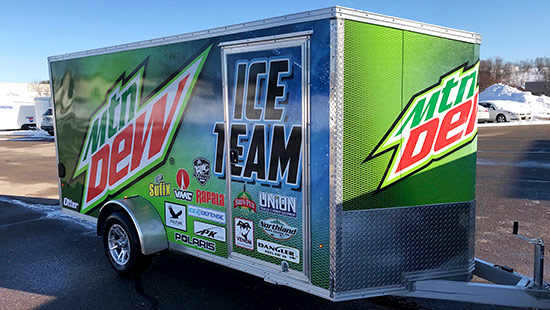 Mountain Dew Ice Team Snowmobile Trailer
