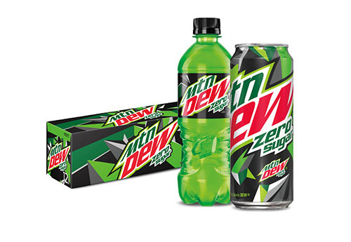 Mountain Dew Zero Sugar products