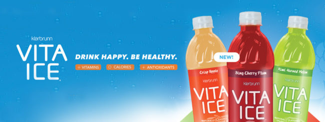 New Klarbrunn Vita Ice. Drink Happy. Be Healthy.