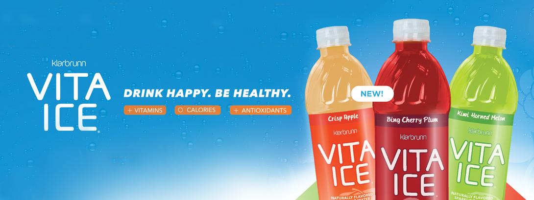 New Klarbrunn Vita Ice. Drink Happy. Be Healthy.
