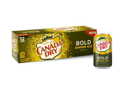 Canada Dry Bold Ginger Ale can and 12-pack