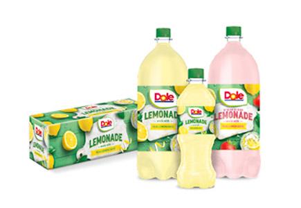 Dole Lemonade 12-pack and bottles