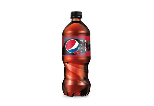 Pepsi Wild Cherry Zero Sugar bottle