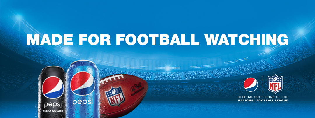 Pepsi NFL Football. Made for football watching.