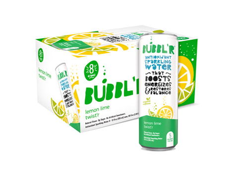 Bubbl'r Lemon Lime Twist'r can and eight pack