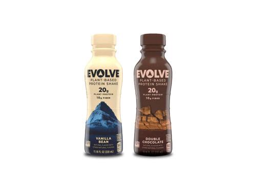 2 Evolve Plant-Based Protein Shake bottles