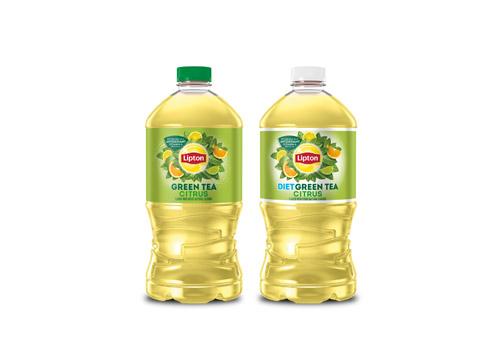 2 bottles of Lipton Green Tea Citrus