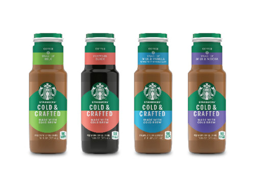 4 Starbucks Cold & Crafted bottles