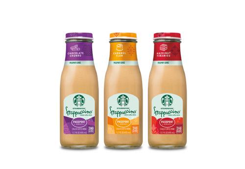 3 Starbucks Frappucino bottles