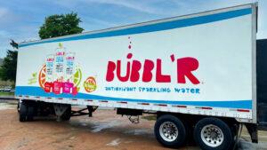 Mid-Wisconsin Beverage Bubbl'r semi trailer wrap.