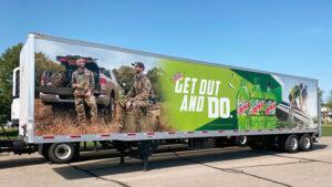 Mid-Wisconsin Beverage Mountain Dew Semi Trailer Wrap